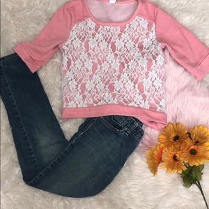 Girls large 10-12 outfit skinny jeans & sweater